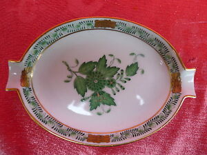 Beautiful, Old Decorative Bowl __Ashtray__Herend__ Apponyi-Green ____