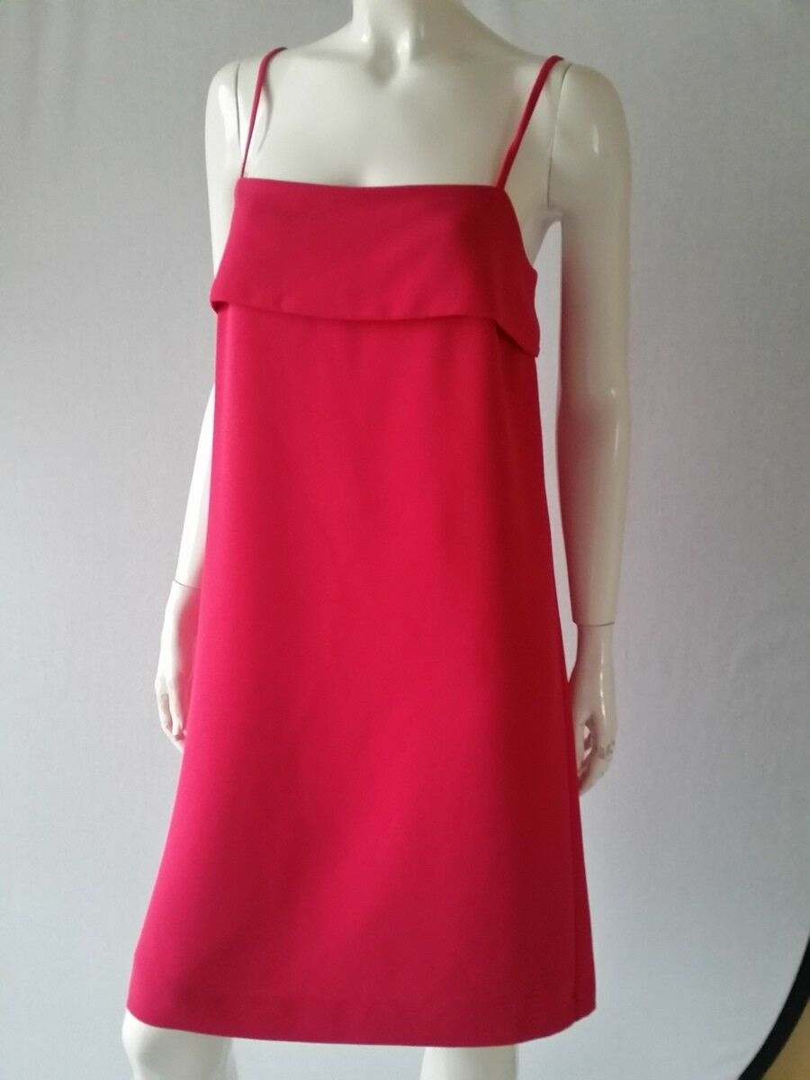 HALLHUBER damen Kleid Trägerkleid fuchsia mit Rückenschleife 34 36 38NEU