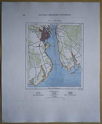 1892 Perron map NEW LONDON, CONNECTICUT (#43)