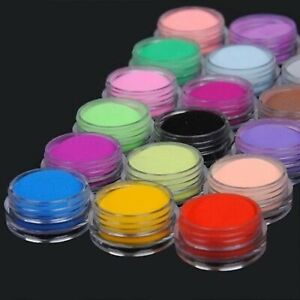 18 Colours Acrylic UV Gel Glitter Dust Powder Set for Nail ...