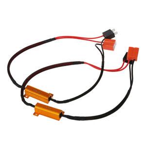 2-x-H7-LED-del-segnale-di-girata-resistore-Canbus-senza-errori-per-BMW-Audi-P8G6