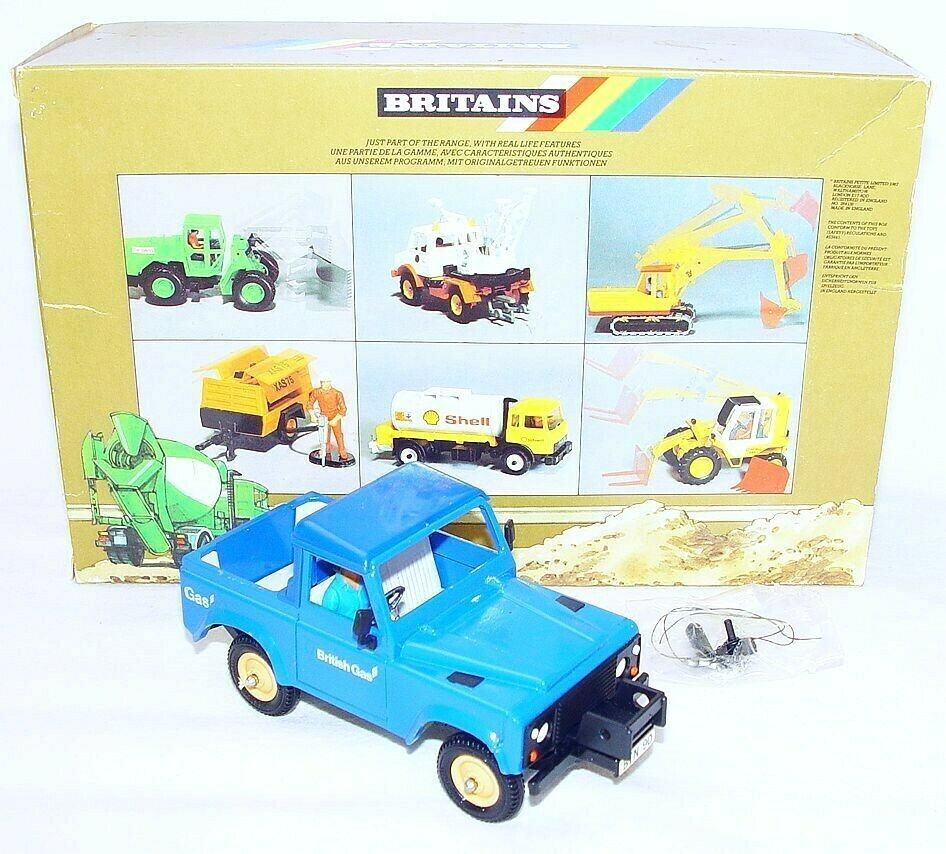 Britains Ltd 1 32 Road serie LAND ROVER  BRITISH GAS  voiture TOP MINT  MIB`87 RARE