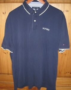 b53bd731 Tommy Hilfiger Men's Polo Shirt Top Vintage Spell Out Blue size X ...