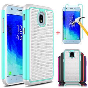 For-Samsung-Galaxy-J3-V-2018-Orbit-Star-Shockproof-Armor-Case-Screen-Protector