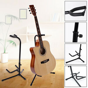 Folding-Electric-Acoustic-Bass-Guitar-Stand-A-Frame-Floor-Rack-Holder