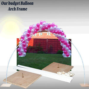 Wedding all occasions balloon arch frame use air filled for How to make balloon arch at home