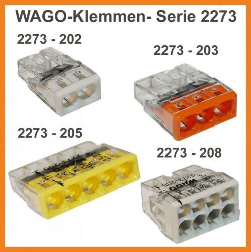 10 Stk.Wago-Klemmen 8-pol. 2273-208 Steckklemme Dosenklemmen Klemmen