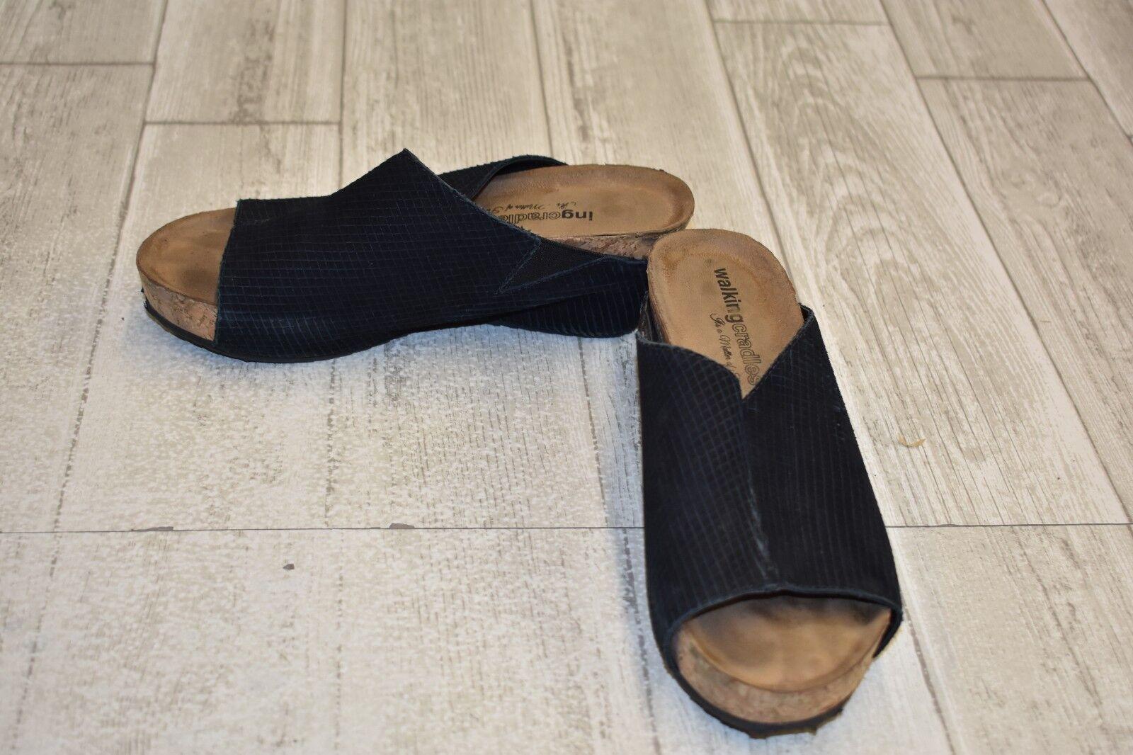 Walking Cradles tiegan Cuña Cuña Cuña Sandalias-Para Mujer Talla 6.5 M-Negro  ventas en línea de venta