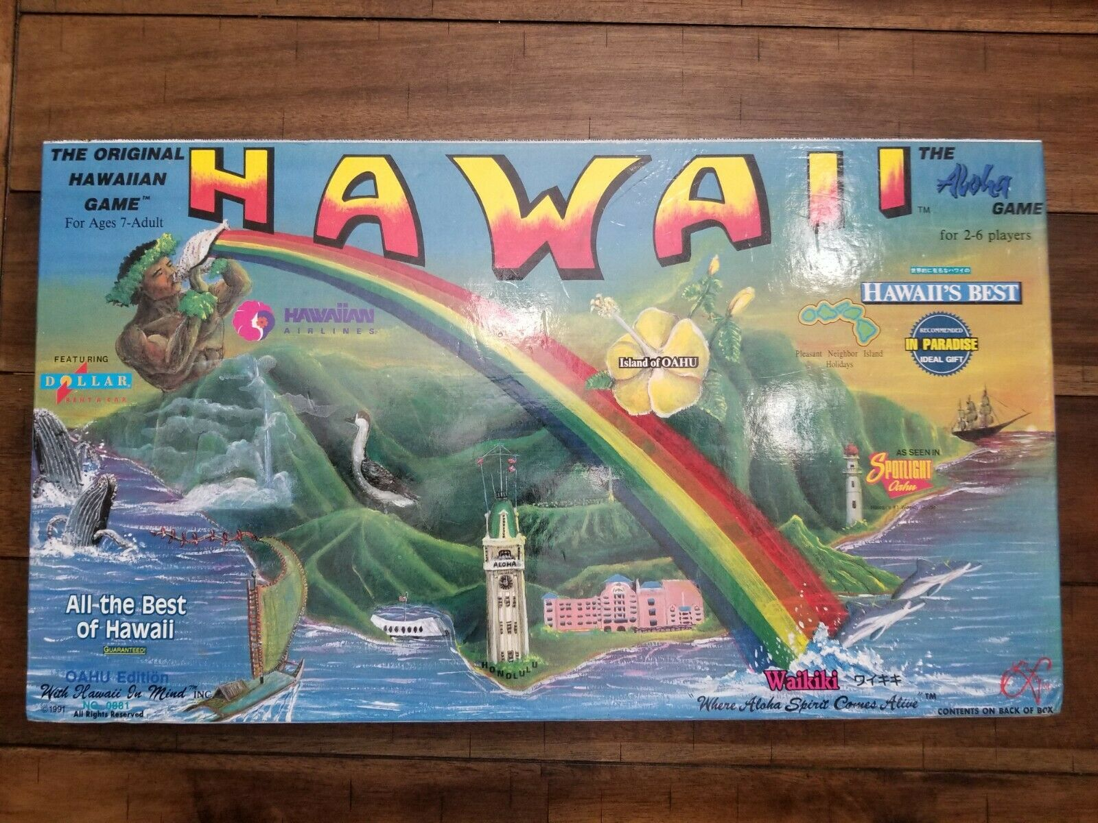 1991 Hawaii  The Aloha  Board Game  The Oahu Edition Extremely - Rare -
