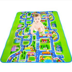 floor carpet for kids city race car road play toy track rug baby eva