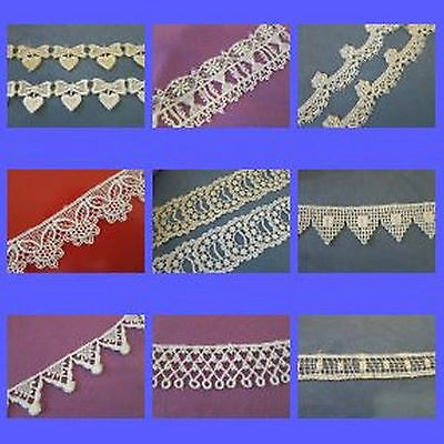 Assorted Styles of very pretty Venice -  White / IvoryVenise lace trim $ By Yard