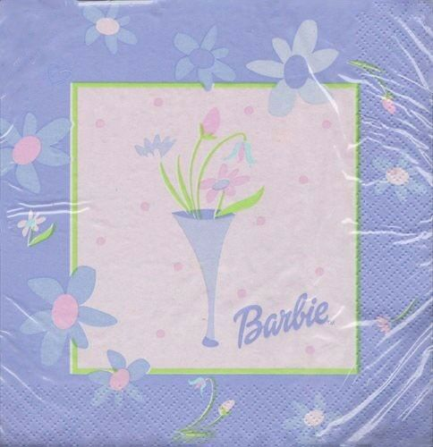 ~ Birthday Party Supplies Dinner Large BARBIE Celebration LUNCH NAPKINS 16