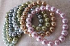KENNETH JAY LANE Seven Multicolour Pastel Faux Pearl Stretch Bracelets