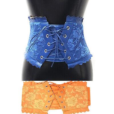 womens belt corset lace bow tie belts elastic wide skinny