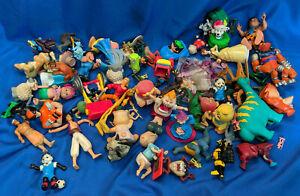 Large-Lot-Toys-VTG-80s-90s-Marvel-Fast-Food-Prize-Aladdin-Disney-Pixar-Fred