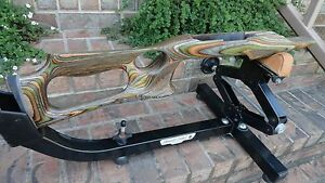 10 22 Ruger Forest Camo Barracuda Stock W Laser Stippling