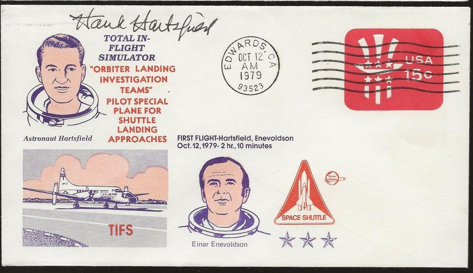 s l1600 - 1979 TIFS Shuttle Test Flights Autographed by Astronaut Hank Hartsfield
