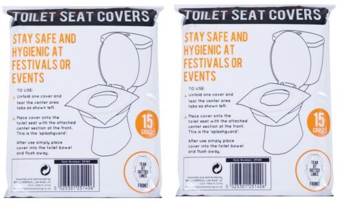 15 30 45 60 Disposable Toilet Seat Covers Flushable Camping Festival Travel Aid