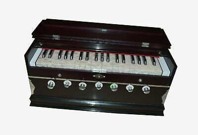 Harmonium 7 Stopper Doppel Faltenbalg 39 Schlüssel 440Hz Indisch Musikinstrument