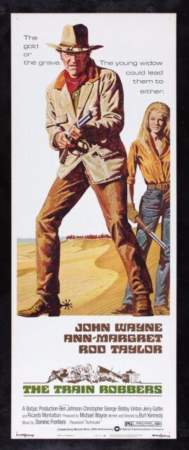 THE TRAIN ROBBERS * CineMasterpieces WESTERN MOVIE POSTER JOHN WAYNE ANN MARGRET