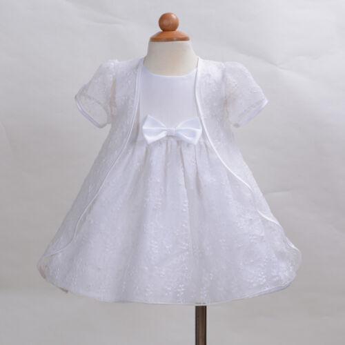 Neu Baby Tauffeier Kleid und Umhang Elfenbeinweiß 3 6 9 12 18 24 Monate
