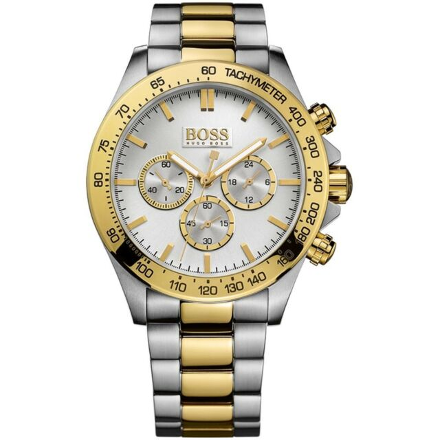 cdcfe265d258 Nuevo Hugo Boss 1512960 Hombre Dos Tonos Reloj Cronógrafo-2 Años de Garantía