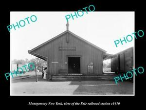 OLD-LARGE-HISTORIC-PHOTO-OF-MONTGOMERY-NEW-YORK-ERIE-RAILROAD-STATION-c1910