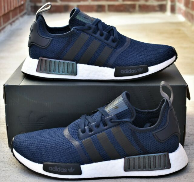 Adidas NMD R1 New Men's Navy Blue Boost Shoes EG7185 Sneakers