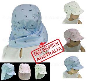 Details about Girl Boy Baby Toddler Baseball Cotton Neck Backflap Legion  Legionnaire Sun Hat