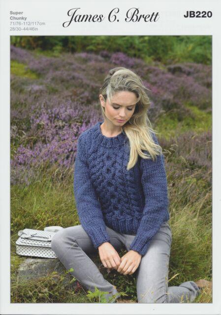 Ladies Amazon Super Chunky Knitting Pattern Womens Sweater James