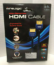 WIRELOGIC HDMI High Speed with Ethernet Dual Cable 6 feet HDTV
