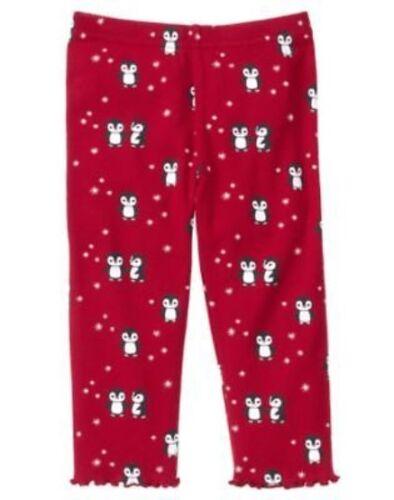 GYMBOREE PENGUIN CHALET RED PENGUIN N SNOWFLAKE LEGGINGS 6 12 18 24 2 3 4 NWT