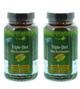 (2) Irwin Naturals Triple Diet Max Accelerator 78 softgels each Exp:07/2020