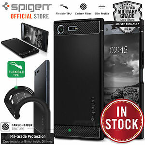 Xperia-XZ-Premium-Case-Genuine-SPIGEN-Rugged-Armor-Resilient-Cover-for-Sony