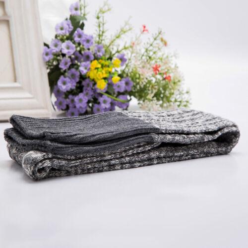 Women Over Knee Wool Knit Long Socks Winter Thigh-Highs Warm Socks Stocking Z