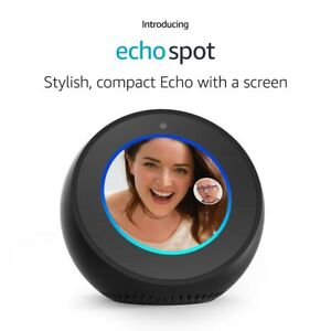 Amazon-Echo-Spot-Alexa-Black-BRAND-NEW-IN-STOCK-FREE-USA-SHIPPING