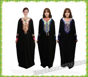 Muslim Abaya Dress Islamic Clothing for Women High Quality Embroidery Clothes
