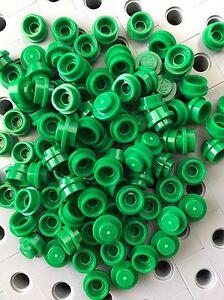Lego Green 1X1 Round Dot Plates Bricks Dots Stud Caps New Lot Of 50