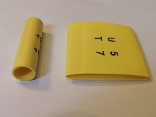 20 X 39mm Amarillo Heatshrink 60mm largo poliolefina Calor Shrink Tubo Paquete de 20