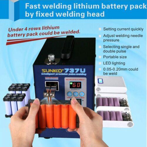 SUNKKO 737U Spot Welder 18650 Battery Spot Welder 2800W W// Digital Display# NEW