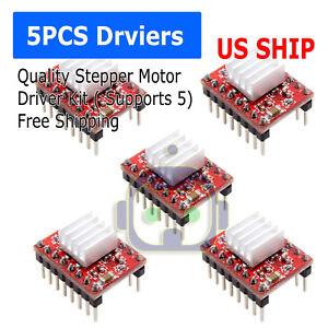 5Pcs A4988 Stepper Motor Driver Module RepRap 3D Printer Polulu StepStick
