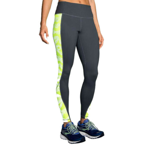 Brooks Womens Nightlife Running Tight Black Sports Breathable Reflective Pockets