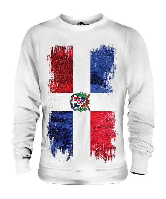 DOMINICAN REPUBLIC GRUNGE FLAG UNISEX SWEATER TOP REPÚBLICA DOMINICANA SHIRT