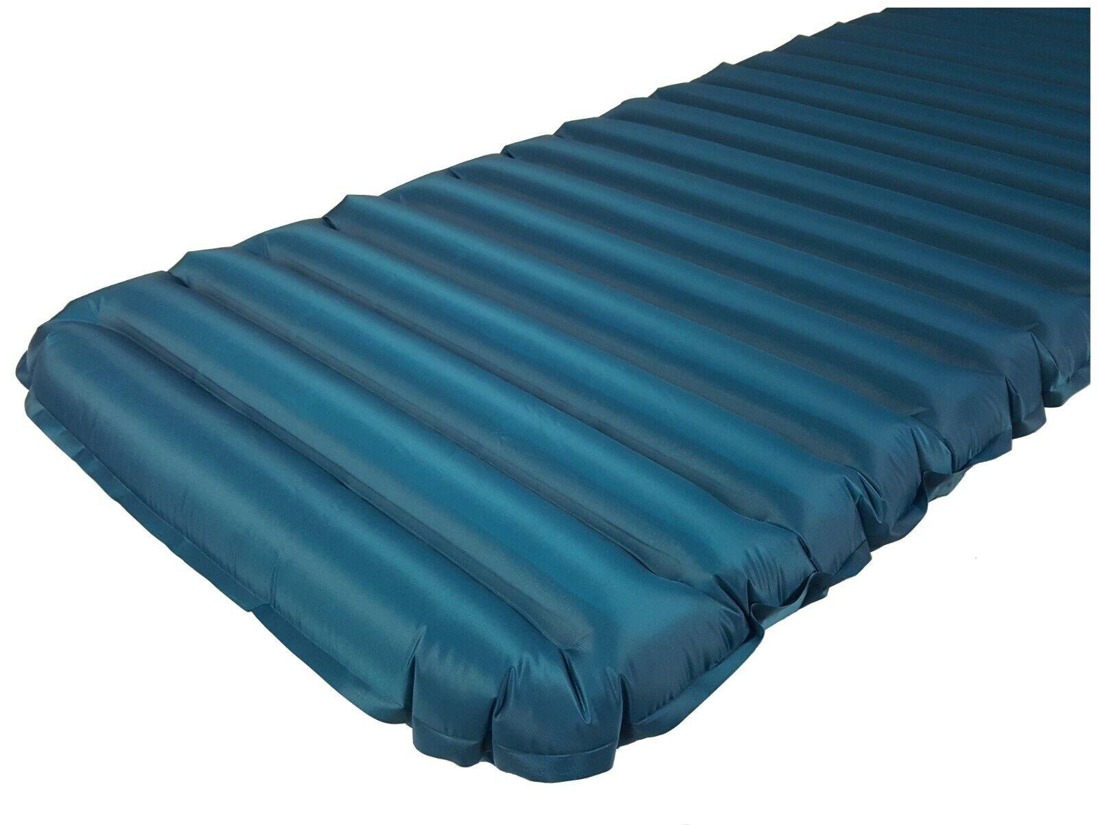 Isomatte div. Größen inkl. Pumsack Luftmatratze blau R-Wert 2,6