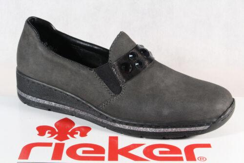 Mocassini Basse Donna Nuovo Rieker Sneakers Grigio Scarpe 589d4 8q5twg