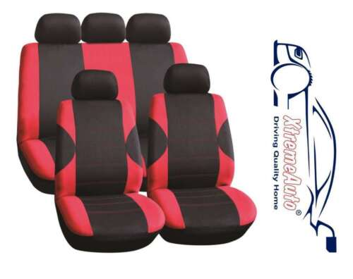 11PCE COVENTRY RED UNIVERSAL FULL SET OF SEAT COVERS FOR Peugeot 107 206 207 30