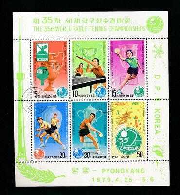 Korea, Block Tischtennis Wm 1979, World Table Tennis Championships, (mo2) Reine WeißE