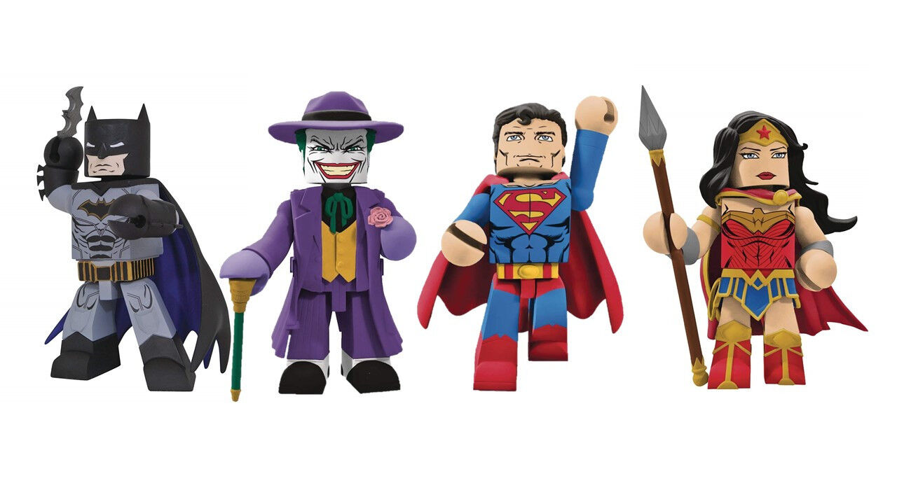 Dc vinimates vinyl kollektion  batman, superman zahlen 4-set joker wonder woman