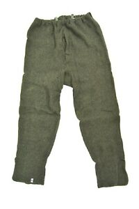 French-Army-Wool-Blend-Long-Johns-Cold-Weather-Thermal-Base-Layer-Vintage-1950-039-s
