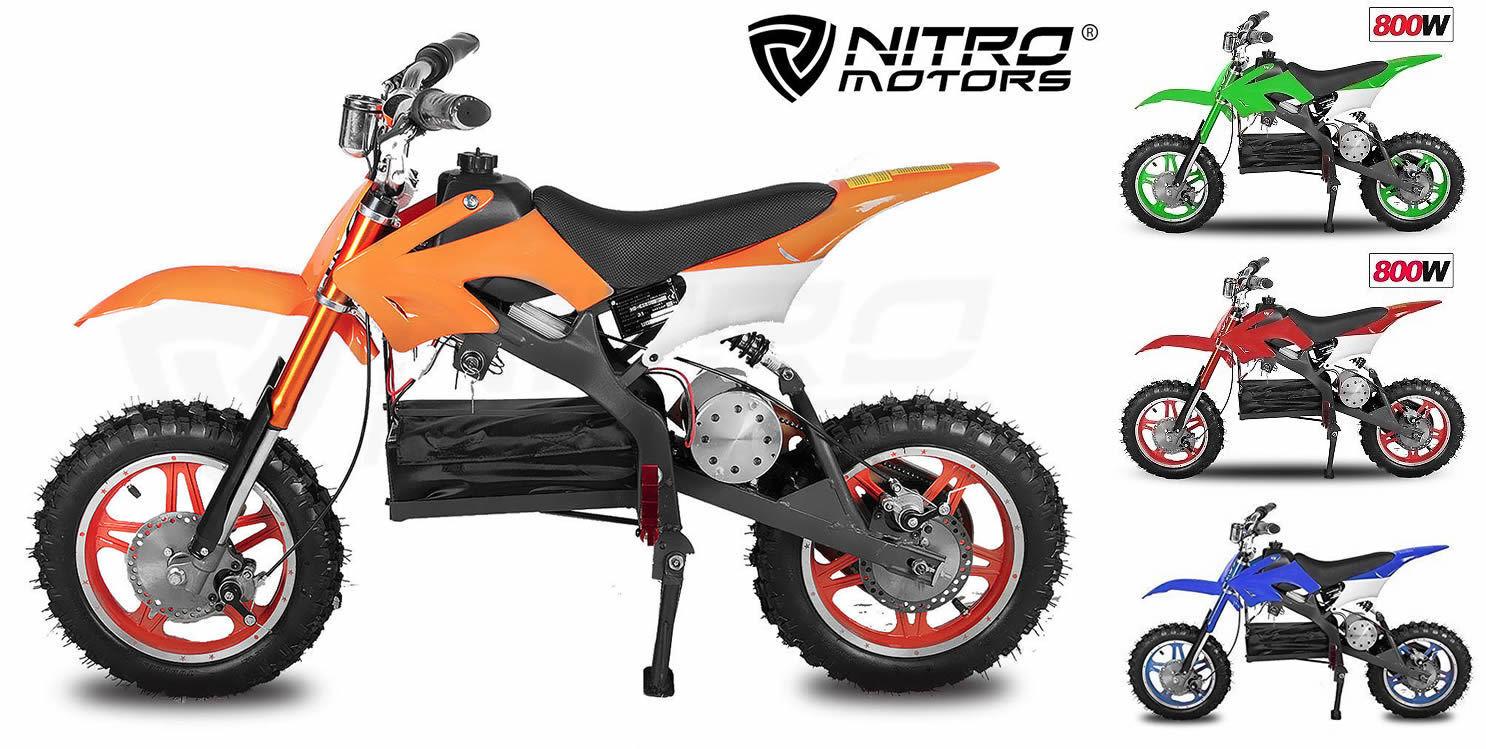 Electric Dirt Bike 800W  Nitro Mini  Scrambler Dirtbike Apollo 36V